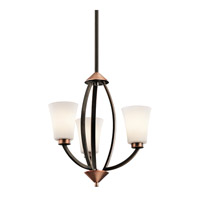 Kichler Lighting Edgecomb 3 Light Mini Chandelier in Olde Bronze 42838OZ