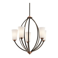 Kichler Lighting Edgecomb 5 Light Chandelier in Olde Bronze 42840OZ photo thumbnail
