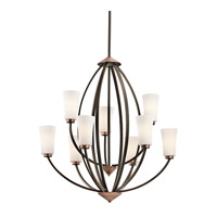 Kichler Lighting Edgecomb 9 Light Chandelier in Olde Bronze 42841OZ