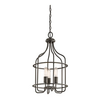 Kichler Tinley 3 Light Foyer Pendant in Olde Bronze 42854OZ