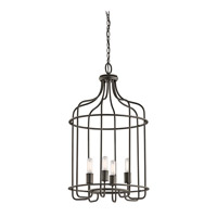 Kichler Tinley 4 Light Foyer Pendant in Olde Bronze 42855OZ