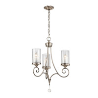 Lara 3 Light 20 inch Classic Pewter Chandelier Ceiling Light