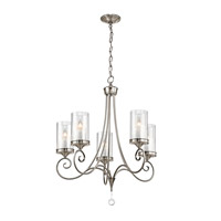 Lara 5 Light 27 inch Classic Pewter Chandelier Ceiling Light