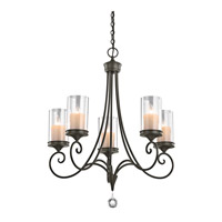 Lara 5 Light 27 inch Shadow Bronze Chandelier Ceiling Light