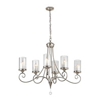 Kichler 42862CLP Lara 6 Light 18 inch Classic Pewter Chandelier Ceiling Light