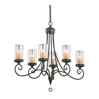 Kichler 42862SWZ Lara 6 Light 18 inch Shadow Bronze Chandelier Ceiling Light