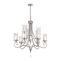 Lara 9 Light 32 inch Classic Pewter Chandelier Ceiling Light