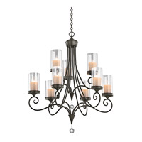 Lara 9 Light 32 inch Shadow Bronze Chandelier Ceiling Light