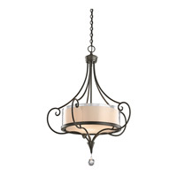 Lara 3 Light 24 inch Shadow Bronze Inverted Pendant Ceiling Light