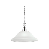 Kichler 42881CH Nicholson 1 Light 16 inch Chrome Pendant Ceiling Light in Satin Etched Glass