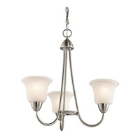 Kichler 42883NI Nicholson 3 Light 21 inch Brushed Nickel Chandelier Ceiling Light Small