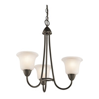 Kichler 42883OZ Nicholson 3 Light 21 inch Olde Bronze Chandelier Ceiling Light