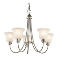 Kichler 42884NI Nicholson 5 Light 25 inch Brushed Nickel Chandelier Ceiling Light