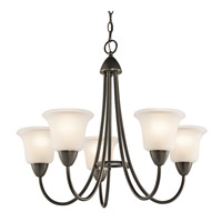Kichler 42884OZ Nicholson 5 Light 25 inch Olde Bronze Chandelier Ceiling Light