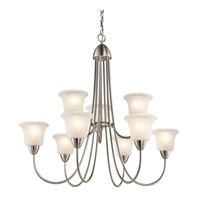 Kichler 42885NI Nicholson 9 Light 35 inch Brushed Nickel Chandelier Ceiling Light