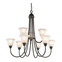 Kichler 42885OZ Nicholson 9 Light 35 inch Olde Bronze Chandelier Ceiling Light