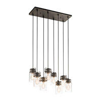 Kichler 42890OZ Brinley 8 Light 10 inch Olde Bronze Chandelier Linear (Double) Ceiling Light