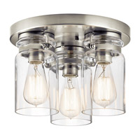 Kichler Brinley 3 Light Flush Mount in Brushed Nickel 42891NI