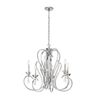 Optic Ice 6 Light 29 inch Chrome Chandelier Ceiling Light, Large