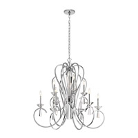 Optic Ice 9 Light 36 inch Chrome Chandelier Ceiling Light, Large