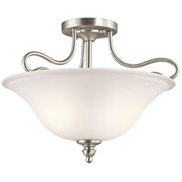 Kichler 42900NI Tanglewood 2 Light 16 inch Brushed Nickel Semi-Flush Ceiling Light