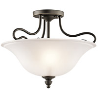 Kichler 42900OZ Tanglewood 2 Light 16 inch Olde Bronze Semi Flush Light Ceiling Light in Incandescent