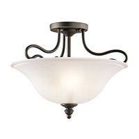 Kichler 42900OZL16 Tanglewood LED 16 inch Olde Bronze Semi Flush Mount Ceiling Light