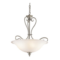 Kichler 42903NI Tanglewood 3 Light 18 inch Brushed Nickel Inverted Pendant Ceiling Light