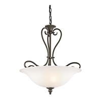 Kichler 42903OZ Tanglewood 3 Light 18 inch Olde Bronze Inverted Pendant Ceiling Light