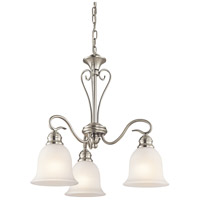 Tanglewood 3 Light 20 inch Brushed Nickel Chandelier Ceiling Light