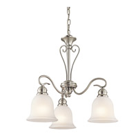 Tanglewood LED 20 inch Brushed Nickel Chandelier Ceiling Light, Small