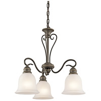 Kichler 42905OZ Tanglewood 3 Light 20 inch Olde Bronze Chandelier Ceiling Light in Standard Small