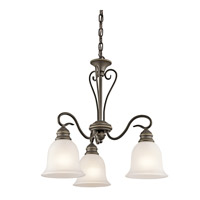 Kichler 42905OZL16 Tanglewood LED 20 inch Olde Bronze Chandelier Ceiling Light, Small