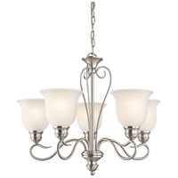 Kichler 42906NI Tanglewood 5 Light 24 inch Brushed Nickel Chandelier Ceiling Light