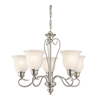 Tanglewood LED 24 inch Brushed Nickel Chandelier Ceiling Light, Medium