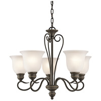 Kichler 42906OZ Tanglewood 5 Light 24 inch Olde Bronze Mini Chandelier Ceiling Light