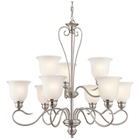 Kichler 42907NI Tanglewood 9 Light 32 inch Brushed Nickel Chandelier Ceiling Light