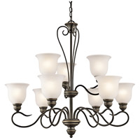 Kichler 42907OZ Tanglewood 9 Light 32 inch Olde Bronze Chandelier Ceiling Light