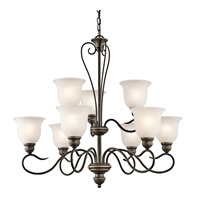 Kichler 42907OZL16 Tanglewood LED 32 inch Olde Bronze Chandelier Ceiling Light