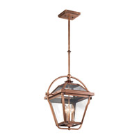 Kichler Ryegate 3 Light Pendant in Antique Copper 42909ACO