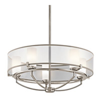 Kichler 42921CLP Saldana 5 Light 24 inch Classic Pewter Chandelier Ceiling Light