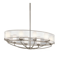 Kichler 42922CLP Saldana 8 Light 20 inch Classic Pewter Chandelier Ceiling Light