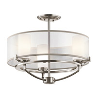 Kichler 42923CLP Saldana 3 Light 18 inch Classic Pewter Chandelier Ceiling Light