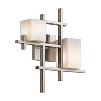 Kichler 42942CLP City Lights 2 Light 16 inch Classic Pewter Wall Sconce Wall Light