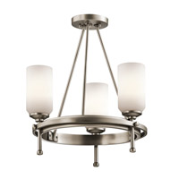 Kichler Lighting Ladero 3 Light Convertible Semi Flush Chandelier in Antique Pewter 42944AP