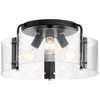 Kichler 42955BK Thoreau 4 Light 18 inch Black Semi Flush Light Ceiling Light