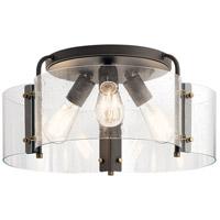 Kichler 42955OZ Thoreau 3 Light 18 inch Olde Bronze Semi Flush Mount Ceiling Light