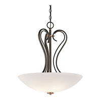 Kichler Lighting Claridge Court 3 Light Inverted Pendant in Olde Bronze 42987OZ photo thumbnail