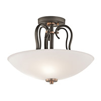 Kichler Lighting Claridge Court 3 Light Semi-Flush in Olde Bronze 42989OZ photo thumbnail