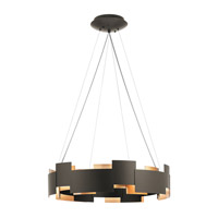 Moderne LED 27 inch Olde Bronze Chandelier Ceiling Light, Round
